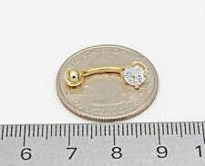 Stamped 14k Gold Navel Ring with CZ Stone 1.1 Grams 19mm