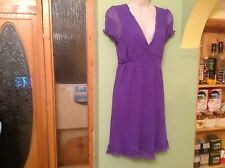 IMMACULATE LADIES FULLY LINED CRINKLE DRESS by RIVER ISLAND SIZE UK 12