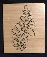 Feather wooden die Fits Bigshot Sizzix Bigshot Pro & Zipemate Machines