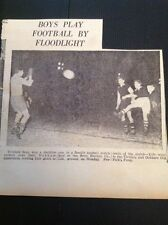 G2-1 Ephemera 1953 Picture Floodlight Football Tividale V Oakham Revo Electric C