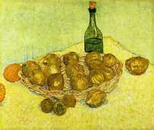 Still Life With A Bottle Lemons And Oranges1888 A3 Box Canvas