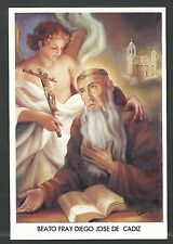 Estampa del Beato Fray Diego andachtsbild santino holy card santini