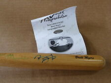 JUST MINORS BRETT MYERS AUTOGRAPH/AUTO MINI BASEBALL BAT PHILADELPHIA PHILLIES