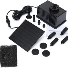 180L/H Solar Panel Power Garden Pond Pool Water Feature Fountain Pump Kit New