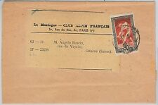 51235 -  FRANCE -  POSTAL HISTORY: OLYMPIC GAMES 1924 stamp: SINGLE use on COVER