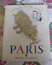 1966 Paris Visages de l'Ile de France Horizons de France illustré Cartes