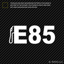 (2x) E85 Sticker Die Cut Decal Self Adhesive Vinyl fossil fuels ethanol fuel