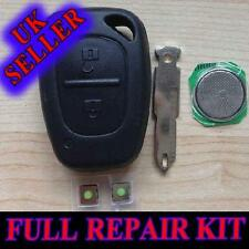 VAUXHALL OPEL VIVARO MAVANO FOB REMOTE KEY CASE REPAIR KIT, MICRO SWITCH BATTERY