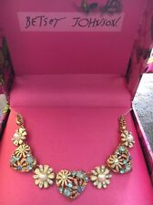 Betsey Johnson Hearts And flower necklace NWT and Box