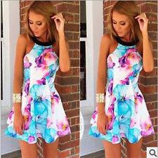 Summer Girls Sundress Beach Womens Evening Party Cocktail Short Mini Dress XL#