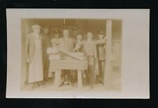 Military army RFA & ASC Butchers Shop close up c1900/10s RP PPC