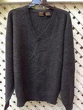 Danforth & Gifft 100% Lambswool Sweater / Men's Large / Dark Gray