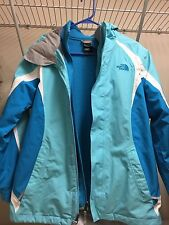 North Face Blue/White 2-in-1 Jacket (Girl XL) Appox. Size M Waterproof Windproof