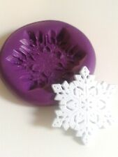 Snowflake Silicone Mould 34 mm Christmas Sugarpaste Cake Decorate Fimo Frozen