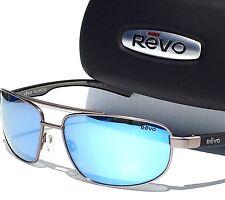 NEW* REVO WRAITH AVIATOR Gunmetal w Blue POLARIZED Lens Sunglass 1018-00$190