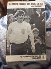 Fulham v Chelsea 1970 Stan Brown Testimonial Programme