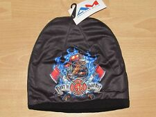 Fireman Fire Fighters First In Last Out Winter Knit Hat Cap Men's - Double Layer