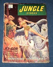 Jungle Stories  Fall 1952   Pulp Magazine  The Monsters Of Voodoo Isle