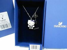 Swarovski 3D Hello Kitty Gothic Pendant, Crystal Authentic MIB 1145267