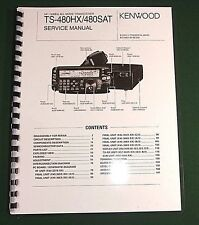 Kenwood TS-480HX/480SAT Service Manual - Card Stock Covers & 28 LB Paper!