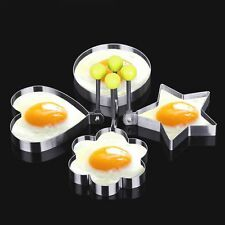 4X Stainless Steel Egg Mold Pancake Mould Ring Fried Cooking Shaper Kitchen Tool