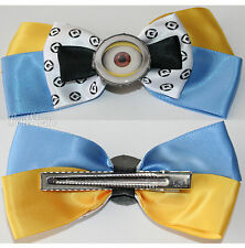 DESPICABLE ME CARL MINION EYEBALL Bow Tie Hair Clip Cosplay Costume Dress Up NEW