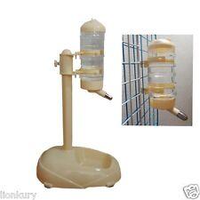 Pet Dog Water Drinker Dispenser Food Stand Hamster Feeder Dish Bowl Bottle 0.5L