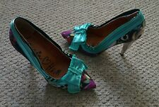Iconic Lanvin for H&M winter 2010 multi heels with box, 38 UK 5 used once gently