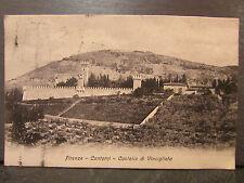 cpa italie italia firenze florence contorni castello di vincigliata     *