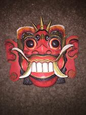 """Indonesian Art - Colorful 10"""" Mask from BALI - Free Shipping"""
