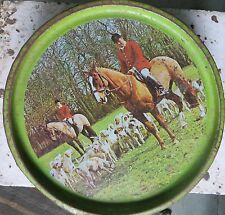 CONFECTIONERY tin Sign depicting images of Horse Dogs men PICNIC PLEASURE India