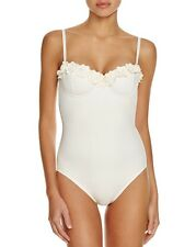 kate spade new york Flower Underwire One Piece Swimsuit, S