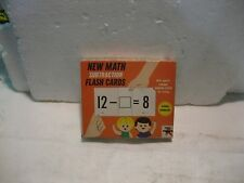 The New Math Subtraction Flash Cards 1966 Math Game From Education Cards   gm157