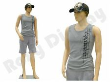 Male Plastic Mannequin Display Dress Form PS-Ken + Free Wig