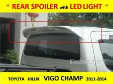 REAR SPOILER WITH LED BREAK LIGHT FOR TOYOTA HILUX VIGO CHAMP 2011-2014