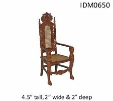"""ORNATE """"LION"""" CHAIR 1:12 SCALE DOLLHOUSE MINIATURES Heirloom Collection"""