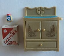 Calico Critters Sylvanian Families Vintage Changing Table With Diaper Box + Talc