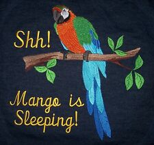 OVERSIZED Embroidered denim parrot cage cover Catalina Macaw