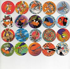 LOONEY TUNES - Complete set 60 Tazos Pogs - GREAT CONDITION - HARD TO FIND