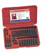 "55pc 1/4"" Dr. Metric & SAE  Impact Socket Set Genius Tools TF-255MS, Warranty"