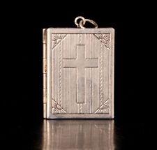 TIBET SILVER LOCKET ORNAMENT ACT THE ROLE CHRISTIAN CROSS PHOTO BOX