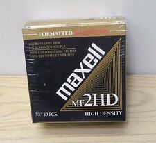 "MAXELL MF2HD High Density 3.5""MACINTOSH Formatted Floppy Discs open box 8 discs"