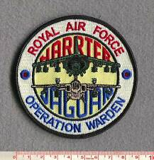"ROYAL AIR FORCE HARRIER & JAGUAR ""OP WARDEN"" PATCH."