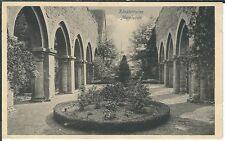 Ansichtskarte Memleben - Klosterruine mit Bäumen und Beet - schwarz/weiß