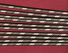 10 STRIPS, MARQUETRY INLAY BANDING,  LUTHIER PURFLING / BINDING,  (PB-102)