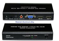 HDMI/MHL to HDMI+VGA +5.1CH/2.1CH SPDIF COAXUAL Audio Separator Video Converter