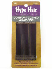 HYPE HAIR CURVED WRAP BOBBY PINS - 18 PCS. - BROWN (19029-A)