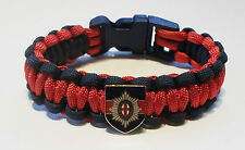 COLDSTREAM GUARDS PARACORD WRISTBAND WITH BADGES
