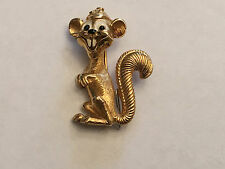 Vintage Boucher Gold Tone Gopher Pin - 9061P