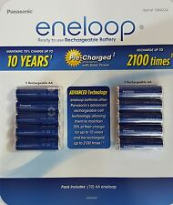 Panasonic (formerly Sanyo) eneloop NiMH Rechargeable Batteries Battery AA x10